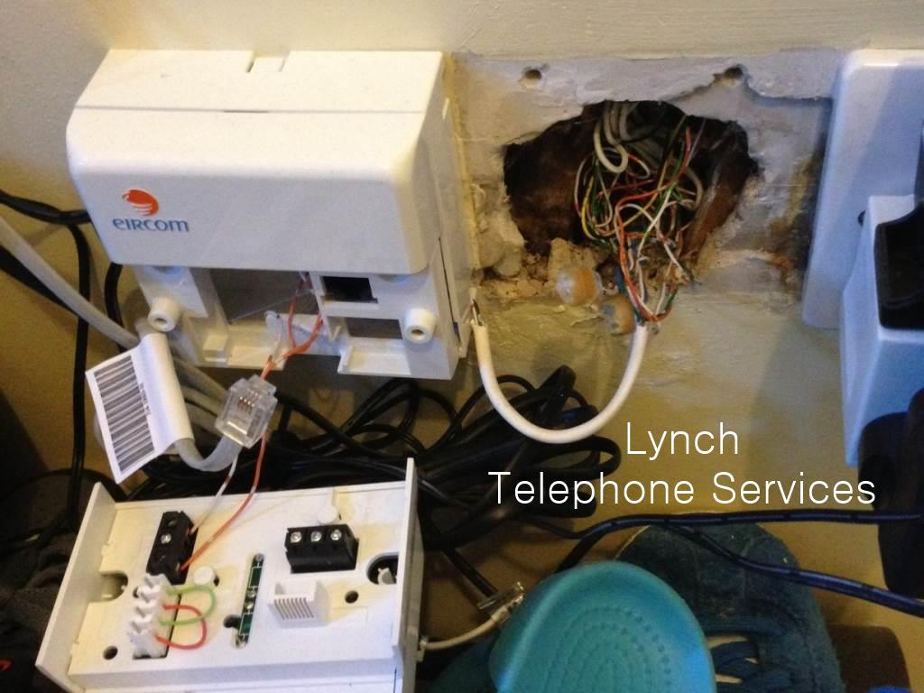 Lynch Telephone Services Image Gallery Work We Have Completed On Phone Socket Wiring Diagram Eircom